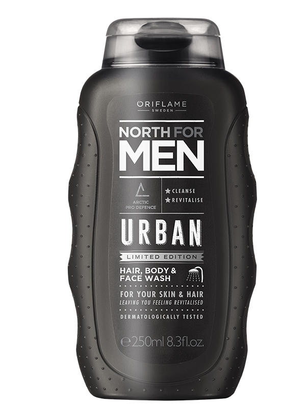 Gel Limpiador Facial, Corporal y Shampoo 3 en 1 North For Men Urban