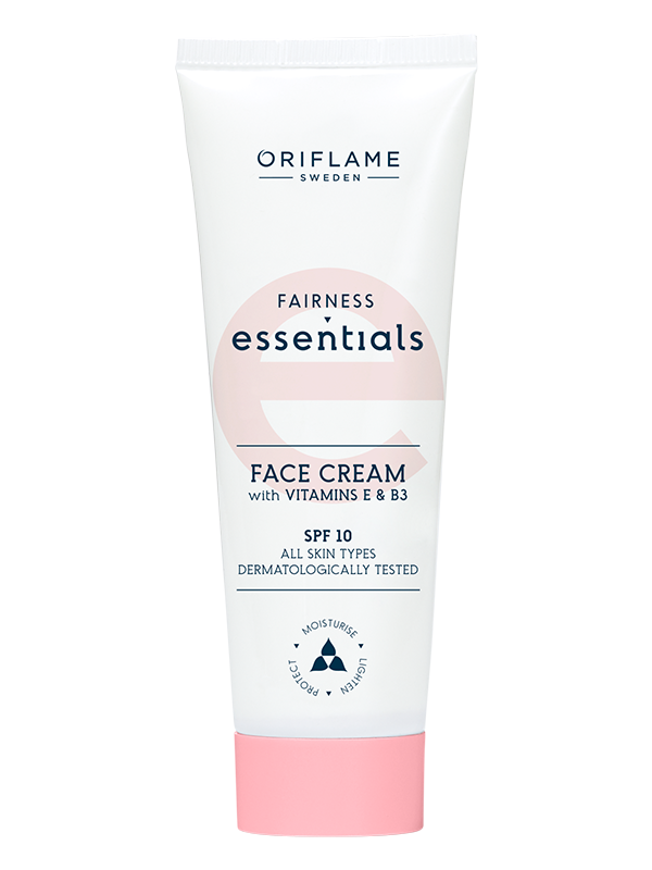 Crema Facial Aclaradora con Vitaminas E y B3 FPS 10 Essentials Fairness