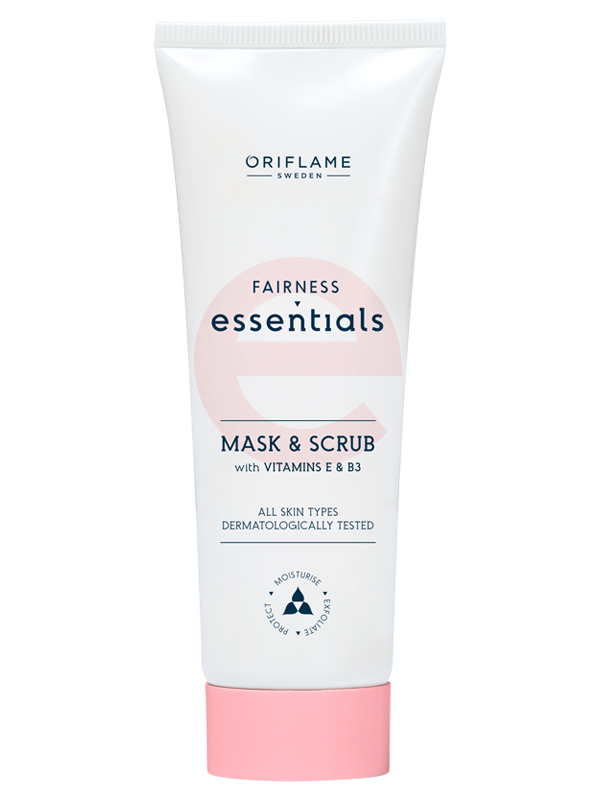 Mascarilla Exfoliante 2 en 1 con Vitaminas E y B3 Essentials Fairness